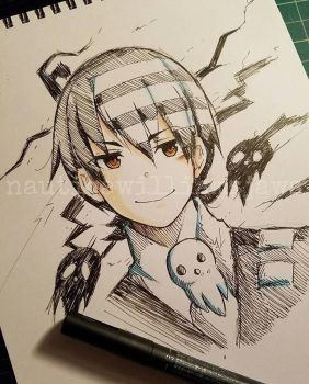 Death The Kid Sketch by NauticaWilliams