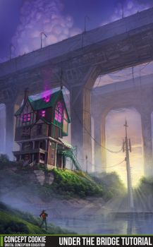 Under the Bridge - Environment Tutorial by CGCookie