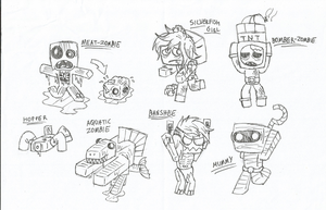 Minecraft - Zombie Ideas by HappyMasky