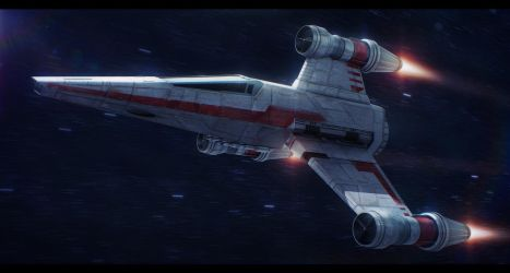 Star Wars R60 T-Wing Interceptor by AdamKop