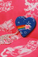 Nyan Cat Heart Necklace by Saint-chan