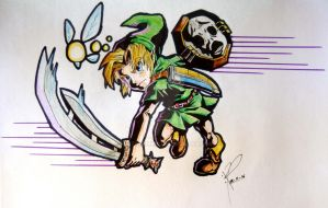 Young Link (Majora's Mask) by MisteremeM