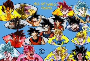 All of Goku's Forms by TrissyGabriel
