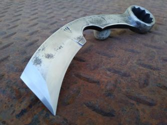 Forged Karambit Wrench Knife by RavenStagDesign