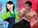 Bruce Lee vs. Mulan by smjblessing