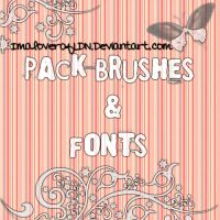 Brushes and font pack by ImaloverOfLDN