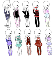 SP Outfit Adopts (2/10 OPEN) by ImaginationTrap