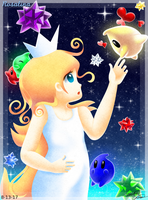 Young Rosalina's Stardust Lumas by Bowser2Queen