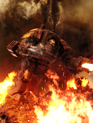 Red Scorpions Relic Contemptor Dreadnought by ARKURION