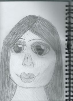 Drawing of a girl by Kdarrell