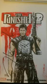 The Punisher Blank w/ Signature of Thomas Jane!!! by DerFanboy
