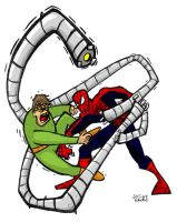 Spiderman vs Dr Octopus by chainsawkarate