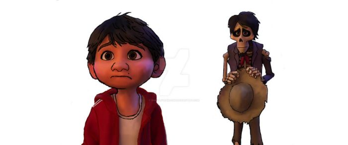 Miguel And Hector From Coco Disney Pixar by simbalovepikachu
