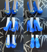 Monster High shoes - Tropical by TifaTofu