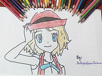 Serena in short hair-Hand Drawing~3 by TheKalosQueenSerena