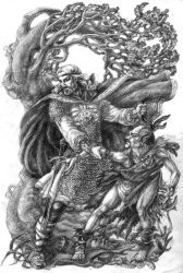 Ilya Muromets and Nightingale the Robber by Righon