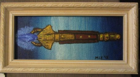 Framed Eighth Doctor Sonic Screwdriver by dragondoodle
