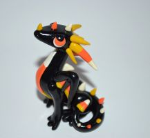 Candy Corn Dragon Sculpture by ByToothAndClaw