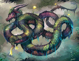 Harbis, the Nature Serpent by Lanasy