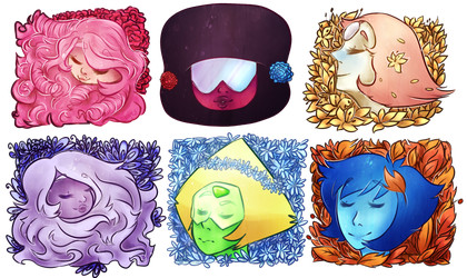 (Alomst) Crystal Gems by SaphireCat11
