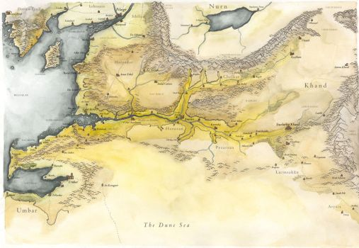Map of Near Harad and Khand by taivaansusi