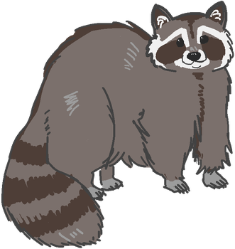 Raccoon Friend!! by comical-lobster