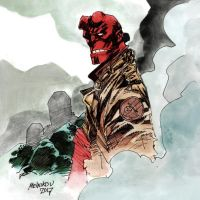 Hellboy sketch by GlebTheZombie
