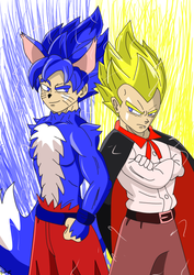 Goku e Vegeta de Halloween by Darkiganv