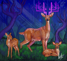 Mother deer by Caroli-chan