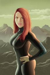 Post Apocalyptic Redhead(Vector) by Sentinelite