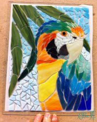 Catalina Macaw Mosaic WIP - 01 by Dreamspirit