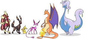 My current team by CalicoPikachu