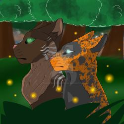Heartstar and Graybark by JoceehFromTheSouthX