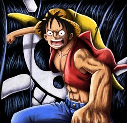 Monkey d luffy Painting by IanMaiguaPictures