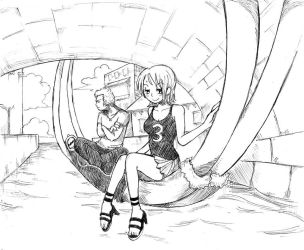 ISS - Nami x Luffy by EggyComics