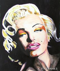 Marilyn Monroe Chiaroscuro (painting) by kfairbanks