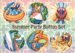 Summer Party Button Set by owlburrow