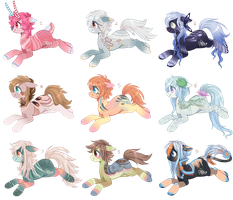 Pony Adopts Batch 16 - 6/9 OPEN by Tea-Adoptables