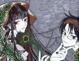 Yuko and Watanuki by Anime019se