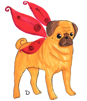 The Puggerfly by DeBegotten