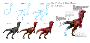 How to draw and paint Dinosaurs by vcubestudios