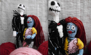 Knit like Jack and Sally if you Want by MissKittyChaos