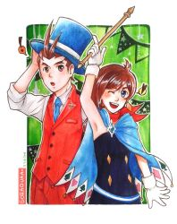 Trucy and Apollo by Sora-Noel