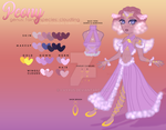 [adoptable] Peony pt 2: reference sheet by i-vyxus