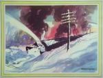 Otto Kuhler Railroad Art - Snow Plow by PRR8157
