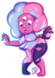 Cotton Candy Garnet by LizDoodlez
