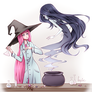PB and Marceline by fayrine