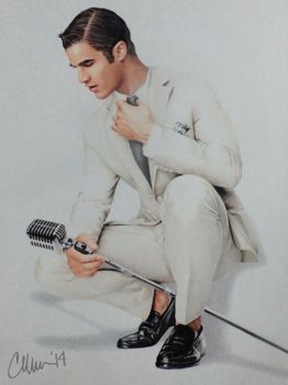 Crooner Blaine drawing by Live4ArtInLA