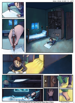Cleo's Drawings and the Frog Prince Page 1 by eltoNNNNNN