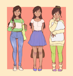Pam outfits by akio2a